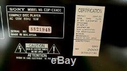 Sony CDP-CX400 400-disc CD changer/ player Brand-New Retail Open Box never used