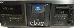 Sony CDP-CX400 Mega Storage 400-Disc CD Changer Carousel Player WORKS GREAT