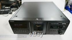 Sony CDP-CX400 MegaStorage 400-Disc CD Changer/Player NO REMOTE WORKS GREAT