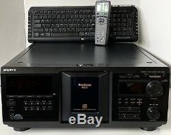Sony CDP-CX450, 400 Disc CD Player Changer With Remote & Keyboard NEW BELTS