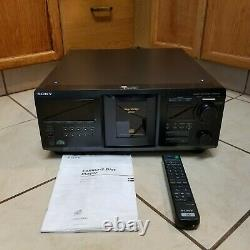 Sony CDP-CX455 400 Disc CD Changer Player With Remote