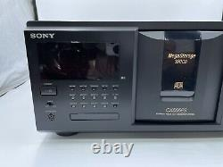 Sony Compact Disc Player CDP-CX555ES Mega Storage 300 Disc Changer- New Belts