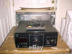 Sony DVP-CX985V 400-Disc CD/DVD Changer Player with Remote & Box