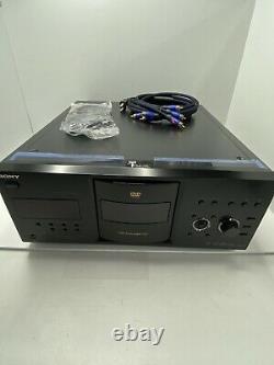 Sony DVP-CX995V DVD Player 400 DVD/CD/SACD HDMI Mega Changer Disc Explorer