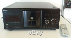 Sony Disc Explorer 400 DVD Player / Changer + Remote Control CD/DVD/SACD Mega