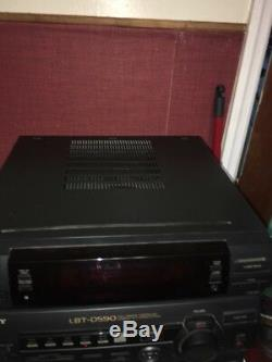 Sony LBT-D590 Compact Disc Deck Player Stereo System 5 CD Changer Dual Cassette