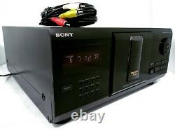 Sony MegaStorage MULTI 200-Disc CD Player Changer CDP-CX225 NO Remote! TESTED