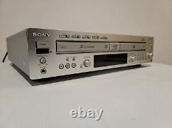 Sony RCD-w2000es RARE 5-Disc CD Changer Player Recorder New Belts w\Remote