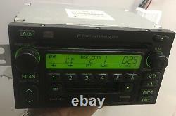 TOYOTA JBL AM FM Radio Stereo Tape Cassette CD Player 6 Disc Changer A56819 OEM