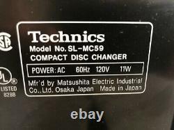 Technics SL-MC59 CD Changer 60 Compact Disc Player HiFi Stereo Audiophile