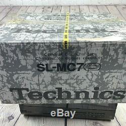 Technics SL-MC7 CD Player 110 Mega Compact Disc Changer Remote and Box Working