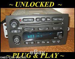 Unlocked 2002-03 CHEVY Trailblazer GMC Envoy BOSE 6 Disc CD Changer Radio Player
