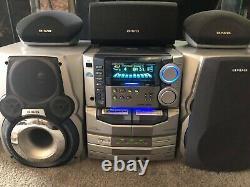 Vintage Aiwa NHMA86 3 Disc Changer Am/Fm Radio Cassette Player Karaoke HiFi