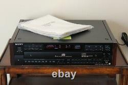 Vintage Sony CDP-C77ES Audiophile 5-Disc CD Changer Compact Disc Player w Remote
