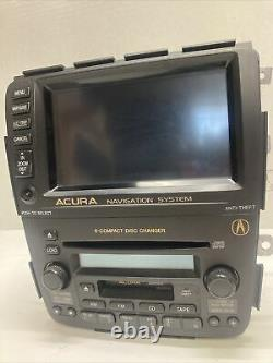 With CODES 2003-2006 ACURA MDX OEM FRONT NAVIGATION SYSTEM RADIO 6 DISC CHANGER