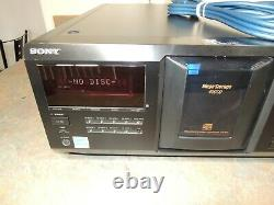 XLNT SONY CDP-CX455 400 Disc CD Changer Player + NEW REMOTE HQ Audio Cables